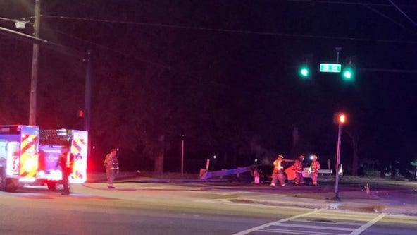 Police: 5 people arrested after chase ends with fiery crash in Morrow