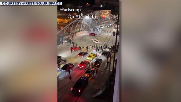Drivers shut down busy Atlanta bridge, near I-85 to perform stunts