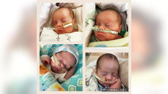 Georgia mom gives birth to rare quadruplets: 'Going to be a wild ride'