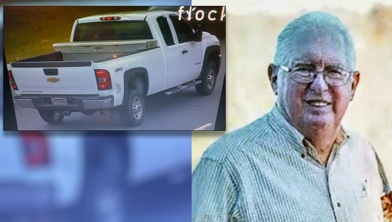 Ron Kissel, of Canton, may be driving a white Chevrolet 2500 pickup truck with Georgia tag BXG7486.