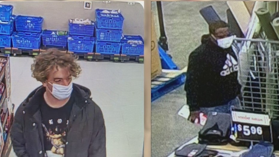 Athens police are searching for these two men in connection to a series of purchases at area Walmart stores using fake money.