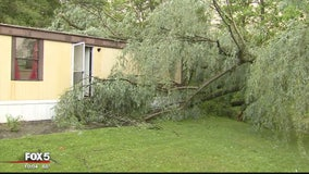 Severe storms damage mobile homes in Winchester