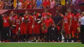 Maryland football plays first game of season, honoring teammate Jordan McNair