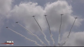 Riding along with the Geico Skytypers preparing for the Joint Base Andrews Air Show