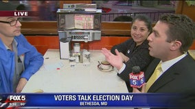Diners discuss Election Day with FOX 5