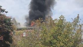 Crews battle fire Logan Circle fire