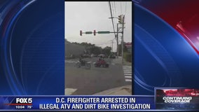DC firefighter arrested for illegally riding ATV
