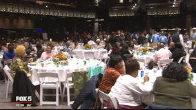 Elderly DC residents displaced by massive fire 2 months ago treated to special Thanksgiving meal
