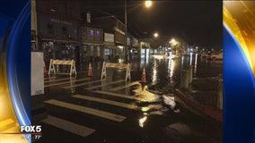 Annapolis City Dock flooding due to heavy rain