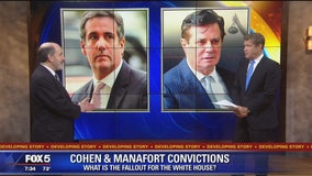 What is the fallout for the White House following Manafort and Cohen convictions?