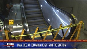 Man in wheelchair dies after fall on escalator at Columbia Heights Metro station