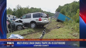 Lanes reopened after multi-vehicle crash on I-95 in Stafford County