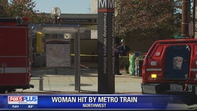 Woman in wheelchair struck by Metro train