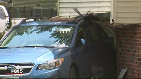 Suspected drunken driver slams into parked car that plows into Montgomery County home
