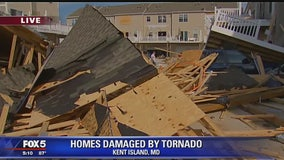 Homes damaged by tornado on Kent Island