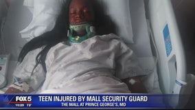 Teen says she was knocked out after security guard slams her head into chair at Maryland mall