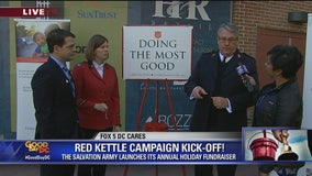 FOX 5 DC CARES: Salvation Army Red Kettle Campaign Kick Off