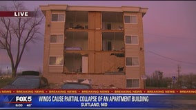 Prince George's County apartment complex evacuated after partial wall collapse