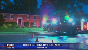Fairfax home struck by lightning