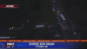 School bus, vehicle collide in Potomac