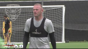 Wayne Rooney practices as DC United gets ready to open up new stadium next week