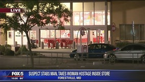 Suspect stabs man, grabs woman at Prince George's County Target