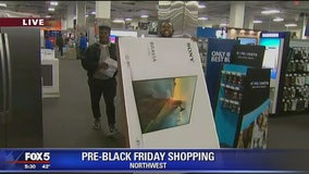 Shoppers hit the stores on Thanksgiving for Black Friday deals