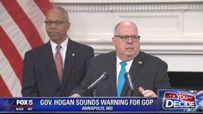Maryland Gov. Larry Hogan sounds warning for GOP