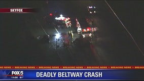 Beltway crash leaves one dead, one critically injured in Prince George's Co.
