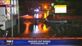 Water Street in Upper Marlboro flooded