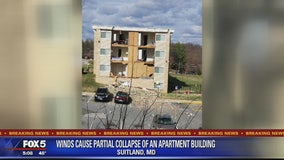 Prince George's County apartment wall partially collapses, officials say