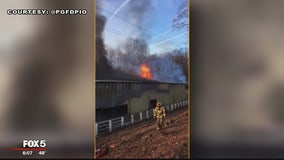 Prince George's County Fire battling 2-alarm Upper Marlboro warehouse fire