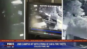 String of car and tire thefts at University of Maryland