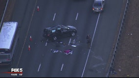 Man suspected of killing wife leads police on high-speed chase, crashes vehicle