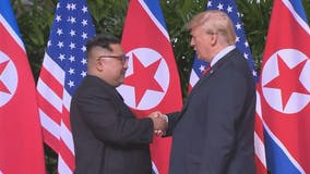 Trump shakes hands with North Korea's Kim Jong Un to kick off historic summit