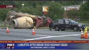 2 injured in violent crash on Indian Head Highway, Prince George's County officials say