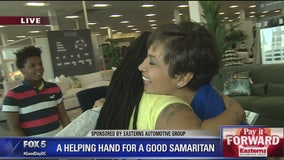 Good Samaritan who helped rescue toddler in DC carjacking surprised with spending spree