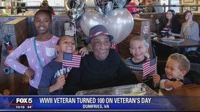 World War II vet celebrates 100th birthday on Veterans Day
