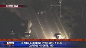 Deadly crash between car and bus in Capitol Heights