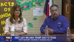 First lady Melania Trump visits US-Mexico border amid crisis over separated migrant children