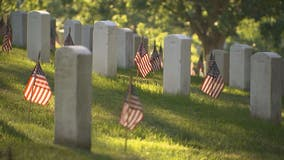 Fallen heroes honored with 'Flags-In' at Arlington National Cemetery