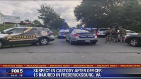 Suspect in custody after officer injured responding to domestic disturbance call in Fredericksburg
