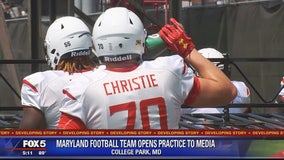 Maryland focusing on player safety and health as team opens practice to media