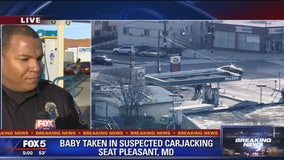 Car stolen with baby inside at Md. gas station