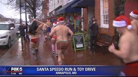 Santa Speedo Run held in Annapolis