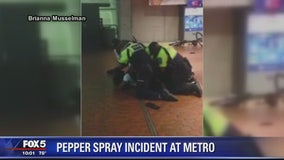 Metro Transit Police use pepper spray on suspect inside Gallery Place station
