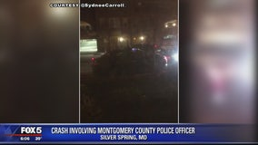 Montgomery County officer crashes cruiser in parked cars in Silver Spring