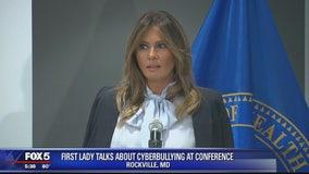 Melania Trump addresses cyberbullying summit in Rockville