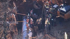 Montgomery County crews attempting to rescue construction worker trapped in trench