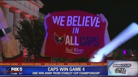 Caps fans celebrate big Game 4 victory in Stanley Cup Final